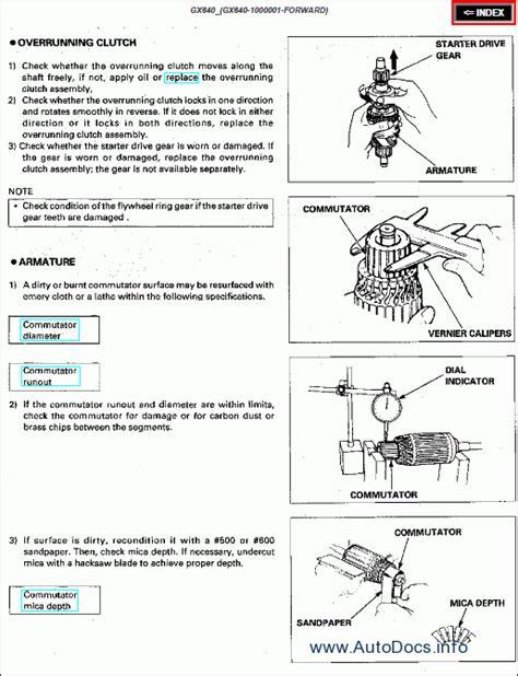 honda engines repair manual order