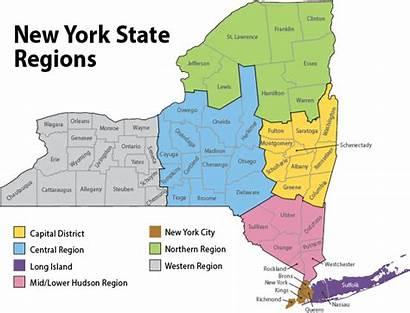 York Map District State Region Regions Central