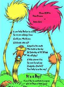 Walmart Photo Center Baby Shower Invitations by Invitation And Decoration Ideas For Dr Seuss Party