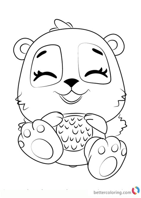 giggling pandor  hatchimals coloring pages