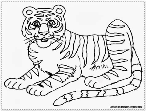 ausmalbilder fuer kinder malvorlagen und malbuch tiger