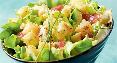 cuisine sans oeufs une salade d été aux ravioles frites