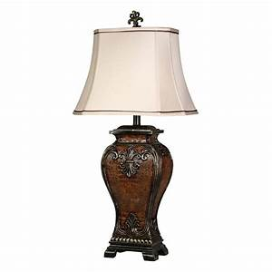 Dundee traditional table lamp with gold accents for Traditional gold floor lamp