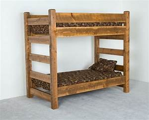 Wooden Rustic Bunk Beds : Awesome Rustic Bunk Beds