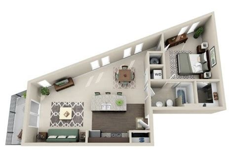 50 plans en 3d d appartement avec 1 chambres apartments cozy and bedroom apartment
