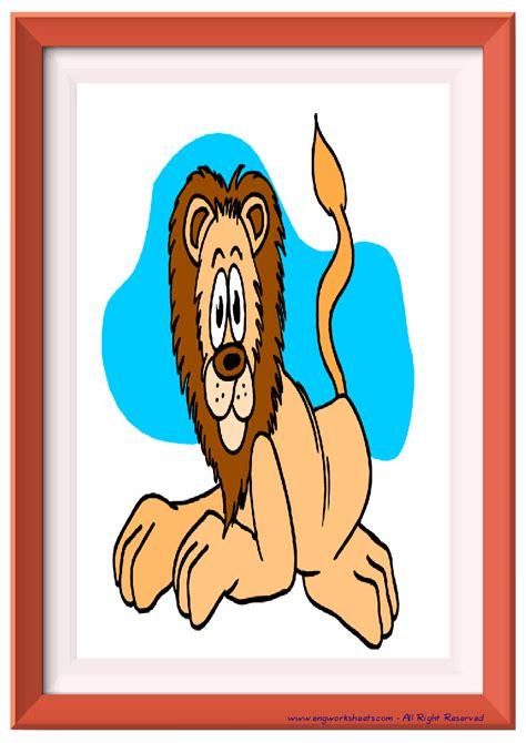 wild animals esl printable english flash cards worksheets