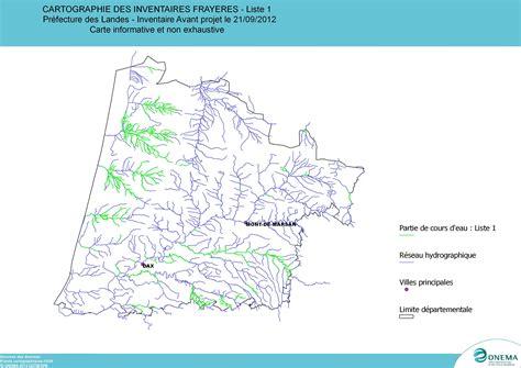 liste one carte des fray 232 res des poissons de la liste 1 services de l etat dans les landes