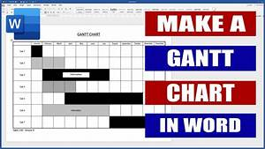 How To Make A Gantt Chart In Word