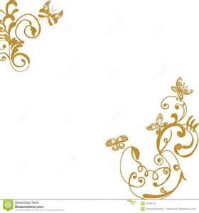 wedding program maker gold foliage butterflies background stock photo image