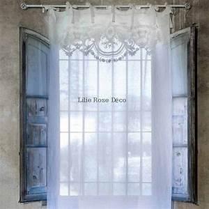 Voilage Lin Blanc : 169 best images about brises bise stores rideaux on pinterest macrame shabby and sweet home ~ Teatrodelosmanantiales.com Idées de Décoration