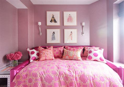 Glam Pink Girls Room  Contemporary  Girl's Room