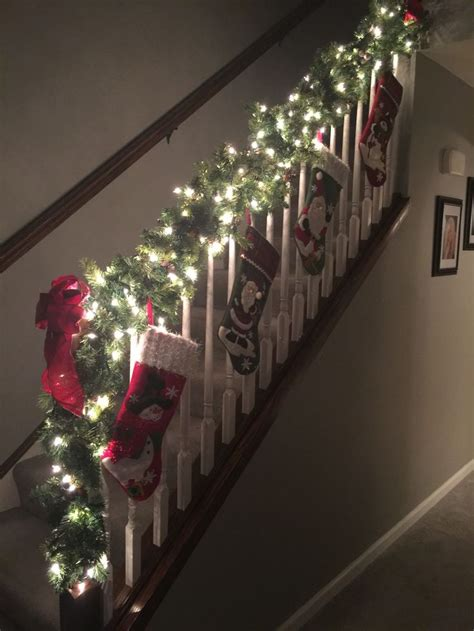 stairwell christmas garland lighting 25 best ideas about staircase on staircase decor