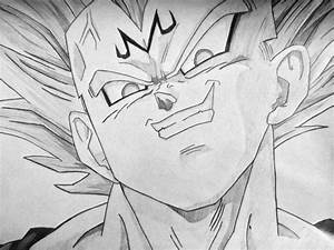 Vegeta Drawings In Pencil Majin Vegeta Pencil Drawing ...