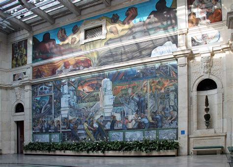 images of murals by diego rivera at the detroit institute of arts