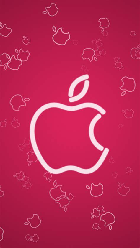pink apple iphone wallpaper hd