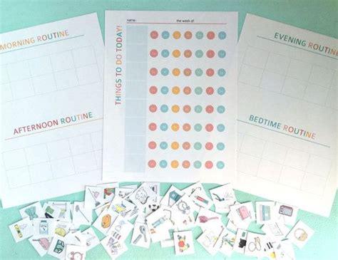 kids printable routines chore chart digital file