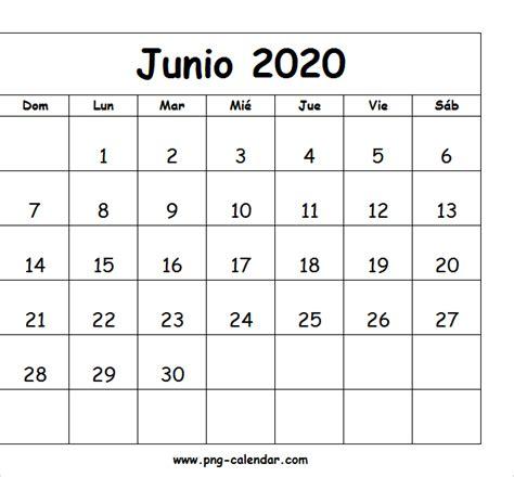 junio calendario imprimir spanish calendar