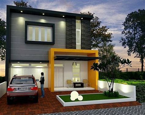 desain rumah minimalis type   lantai terbaru modern