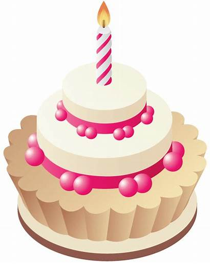 Birthday Clipart Cake Clip Cakes Pink Balloons