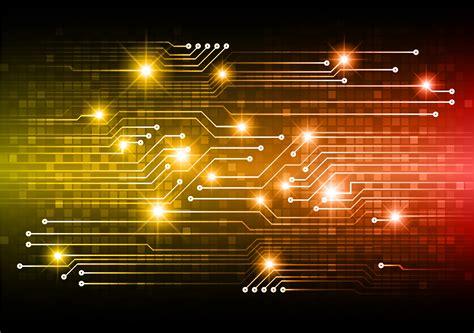 Orange cyber circuit future technology concept 690429 ...