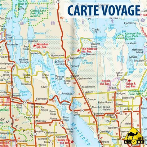 Carte Touristique Du Centre De La by Gps Globe Carte Touristique Du Centre Du Canada