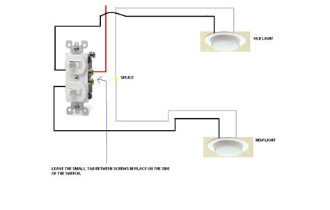 Bathroom Single Light Wiring Diagram by I Had A Single Light With A Single Switch In My Bathroom