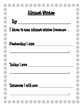 where i m from poem template pdf it s almost winter poem template in a winter font pdf version
