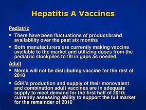 PPT - Vaccine S... Hepatitis A Vaccine