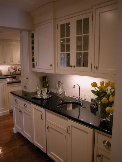 kitchen absolute black granite countertop design pictures