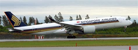 the singapore airlines a350 begins service to stockholm
