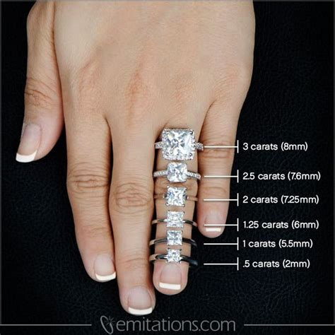 images  carat comparison  pinterest halo