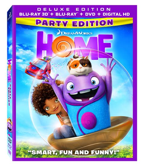 Dreamworks Animation's Home Bluray 3d, Bluray, Dvd And