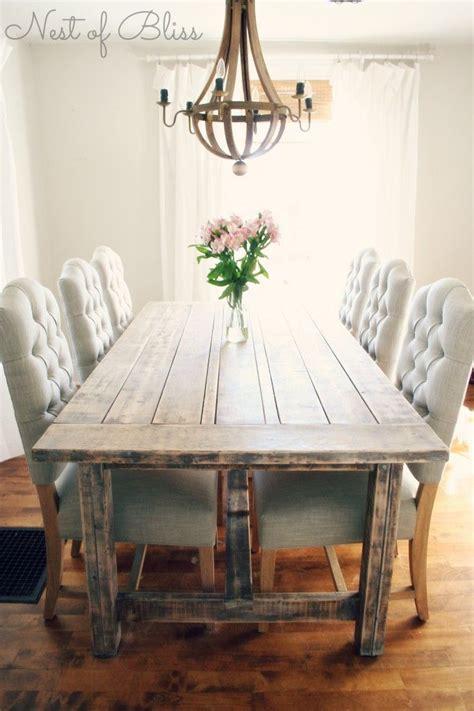 Extra Long Farmhouse Dining Table  Dining room ideas