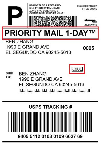 Priority Mail Shipping Label