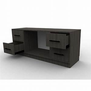 Meuble Tv Noir : meuble tv bois sur mesure solutions pour la d coration int rieure de votre maison ~ Teatrodelosmanantiales.com Idées de Décoration