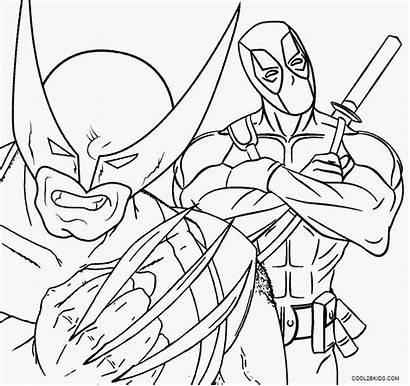 Wolverine Coloring Pages Deadpool Printable