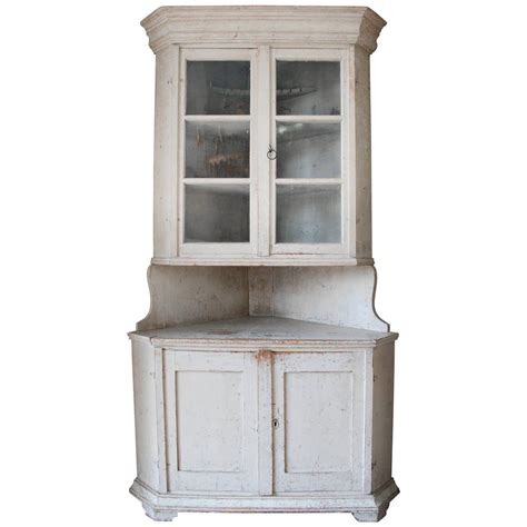 White Cupboards For Sale by Swedish Corner Cabinet For Sale At 1stdibs