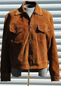 Mens L Vintage Suede Trucker Jacket By Olearstudios On