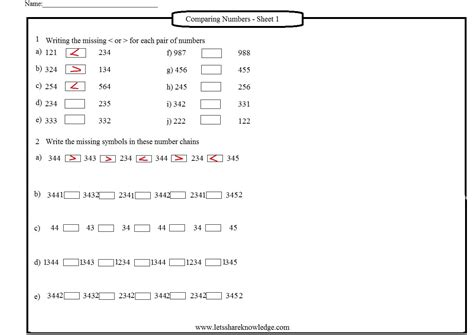 grade  maths worksheets part  lets share knowledge