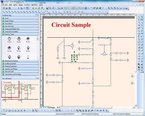 xd electric power circuit diagram drawing simulation