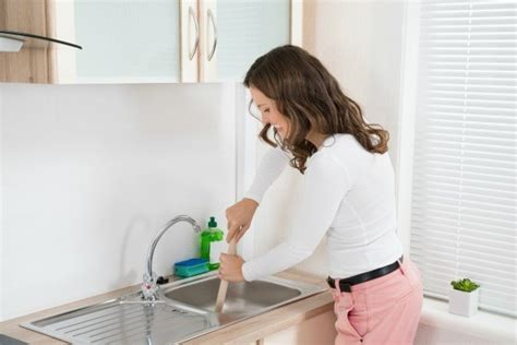 fixing clogged kitchen sink unclogging a sink with a garbage disposal thriftyfun 7222