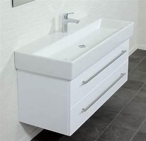 Waschbecken 120 Cm : emotion memento120cm000101de waschbecken mit unterschrank holz wei hochglanz 120 x 45 x 47 ~ Markanthonyermac.com Haus und Dekorationen