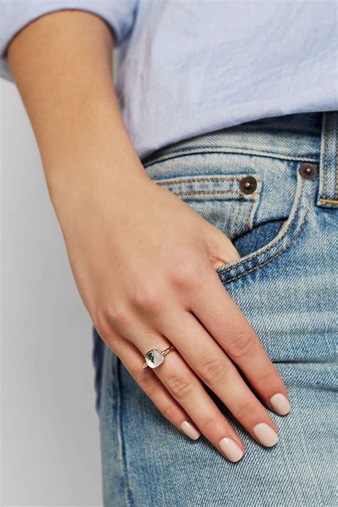 pomellato ring nudo pomellato bague en or 18 carats et topaze nudo