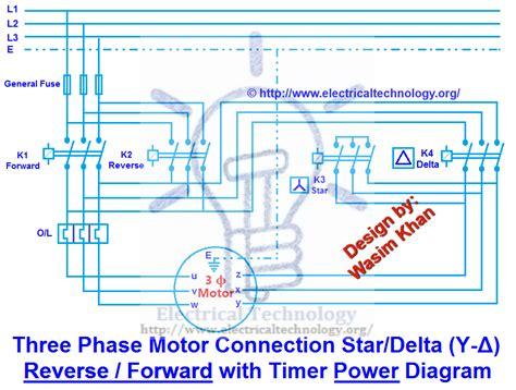Three Phase Motor Star Delta Reverse Forward With