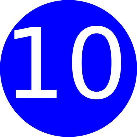 ten clipart png blue rounded with number 10 clip at clker