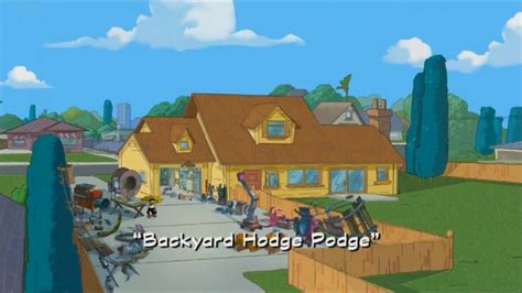Phineas And Ferb Backyard Episode by Image Backyard Hodge Podge Title Card Jpg Phineas And