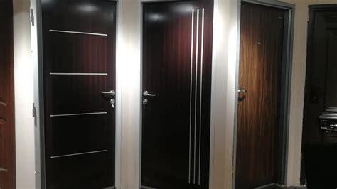 cheap  interior steel doors wooden edge knock