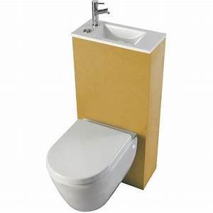 Cuvette Wc Bois : cuvette wc avec lave mains ~ Premium-room.com Idées de Décoration