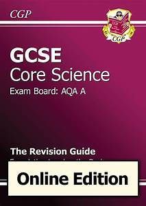 Gcse Core Science Aqa A Revision Guide Foundation The