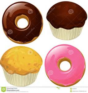 Muffins Bagels and Donuts Clip Art